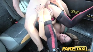 Fake Taxi Girlfriend takes cock one last time in sexy lingerie