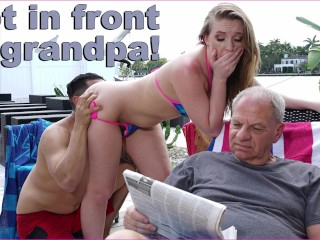 BANGBROS - Bruno Fucks Harley Jade In Front Of Her Grandpa Like A Savage
