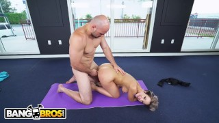 BANGBROS - PAWG Jada Stevens Teaches J-Mac All About Yoga Amateur titty