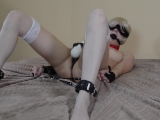 Magic wand bondage blonde tied up and take multiple orgasms to convulsion