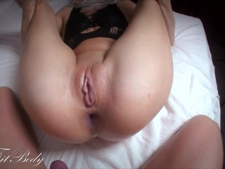 Anal Creampie! Sperm Flows from Hole and Gapping Asshole!