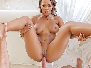Exotic4k Amazing breasted ebony Harley Dean fucked by big white dick