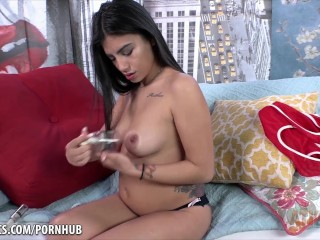 Michelle Martinez using a pussy pump and then masturbating