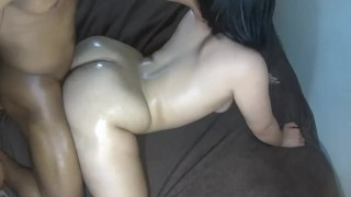 Butt neighbor smashed on big nutted perfect ass girl get's white rough