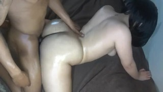 Big butt neighbor girl get's smashed & nutted on, perfect ass! Dripping climax