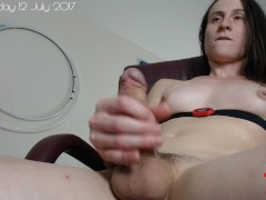 Pushing out anal toys