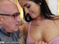 Teen Loren Minardi is Horny for Grandpa Cock