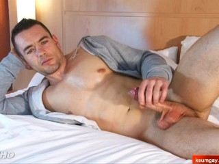 Franck handsome innocent french straight male in a gay porn.