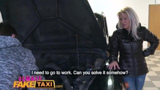 A mechanic sexual fake female blonde full hot horny taxi gives service hardcore blowjob