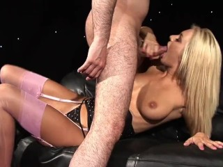 Hot Blonde Slut Fucks And Sucks Her Boyfriend's Dick