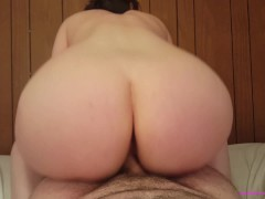 Light skinned Spanish-American girl wiggles on your cock HUGE CUMSHOT