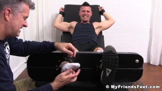 Hot dude Nito gets restrained and tickled all over his body Deep off