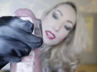 Candy May - SATIN GLOVES BBC HANDJOB