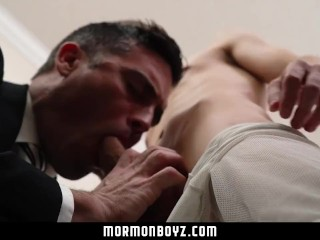 MormonBoyz - Handsome priest barebacks a young virgin missionary