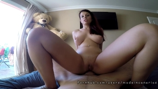 Deep anal orgasm spanish teen with big tits GoPro - Made in Canarias