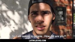 LatinLeche-Sexy straight teen sucks and fucks stranger on camera for money