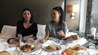 Asa Akira In Bed with Joanna Angel Asa's Adventures Episode 3