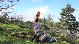 BALLBUSTING! Eric & Chaiyles now on Clips4Sale! CBT, Trampling, Femdom  cbt outside trample redhead femdom public young kink domme petite tights feet socks ballbusting trampling teenager