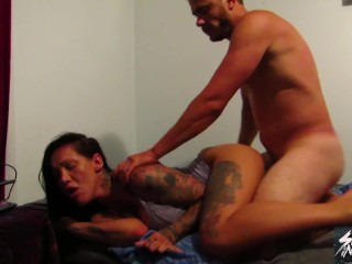 Daddy's girl Chantelle fox gets a rough deep fuck and covered in cum