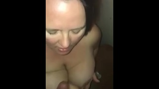 My first visit to the gloryhole with a handsome stranger  mother big cock hotwife mom gloryhole