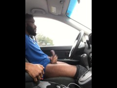 Stroking my Black Cock in Public! *Compilation*