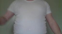 Chubby Mormon rubbing himself in Garments