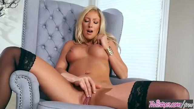 Blondie strip Twistys - kathrynn st-croixx starring at blondy cant sit down