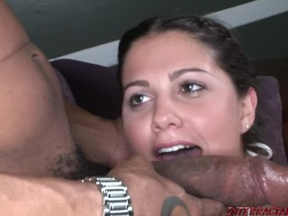 Hot 18 year old Carmella Diamond gets a big black cock stuffing