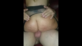 Got wife accidentally cums her pregnant inside and my stranger creampie ass