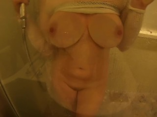 Big Natural Tits Ginger Teen Tender Showering Behind Steamed Glass Window