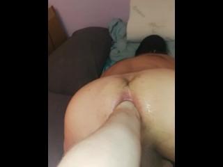 Deep fisting my slave ass