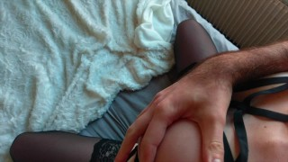 Louiseetmartin : He fucks his friend in hot lingerie and cums on her ass Brother sucking