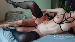 Louiseetmartin : He fucks his friend in hot lingerie and cums on her ass porno