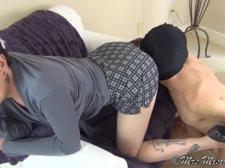 Cuck Hubby Sucks Out My Boyfriend s Creampie femdom cuckold humiliation
