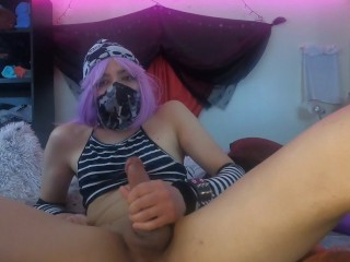 Naughty Kn0xy Nix plays with buttplugs and knotted dildos