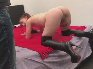 Little BDSM moment with 2 boys with Belgium Pornstar CATHY CROWN - with CA