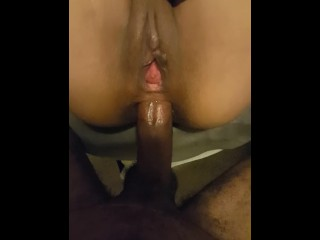 Petite Latina take Fat Black cock in Ass