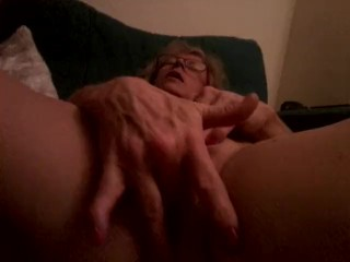 Playing with my Pussy after getting an anal cream pie