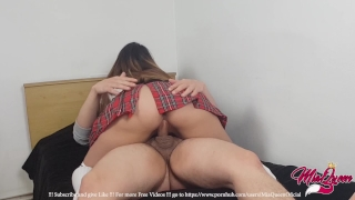 Young Schoolgirl Fucked and Creampied By Boyfriend's - MiaQueen !! Девочка teasing