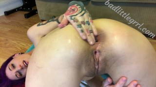 Close-up fisting and gaping - FULL VID AT BADLITTLEGRRL.COM  close up extreme anal gape huge toys anal cum lube anal cum lube asshole closeup gaping messy kink fisting gape anal gaping asshole huge gape huge insertion huge dildo