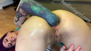 Close-up fisting and gaping - FULL VID AT BADLITTLEGRRL.COM Milking adult