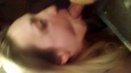 Homemade Hot Blonde sucking dick & getting fucked in bathroom on Phone Cam