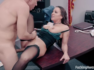 FuckingAwesome - Secretary Abigail Mac fucks her boss