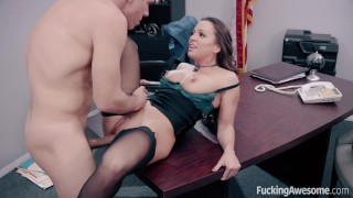 FuckingAwesome Secretary Abigail Mac fucks her boss