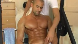 Breno, His hard cock gets filmed in spite of him.