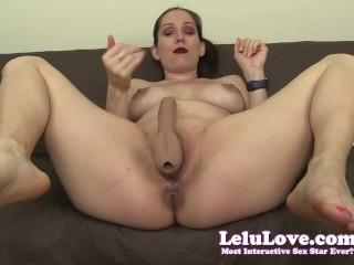Lelu Love-StrapOn Pegging JOI With 2 Orgasm CEI