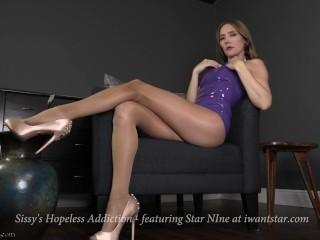 Sissy's Hopeless Addiction - Latex Femdom POV teaser ft. Star Nine