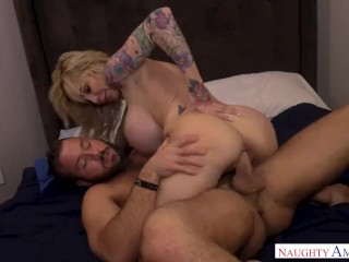pornstar. hardcore. blowjob. middle aged stunning blonde with big tits. male with massive cock.  @NaughtyAmerica
