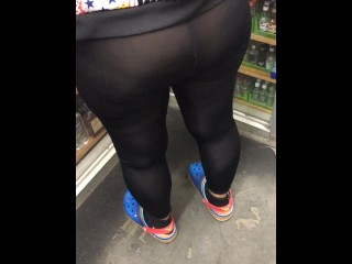 A day out with wife in see through leggings spandex