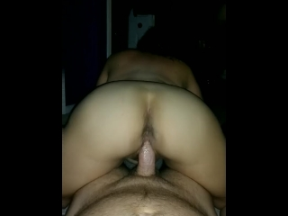 HUGE dripping cum load for sexy amateur riding dick